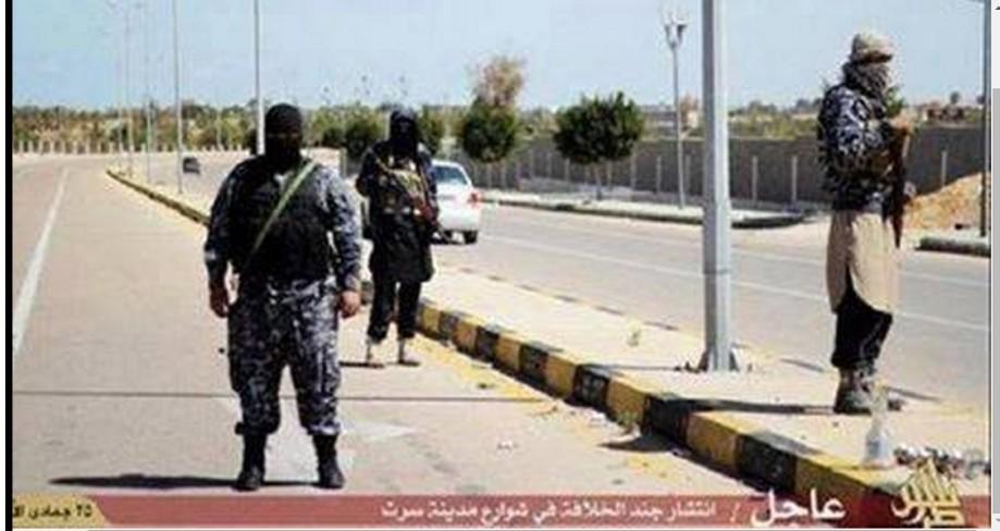 DAASH troops deployed on the Streets of Sirte