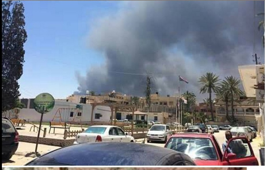 fire at the tire factory in Tajourah, TRIPOLI