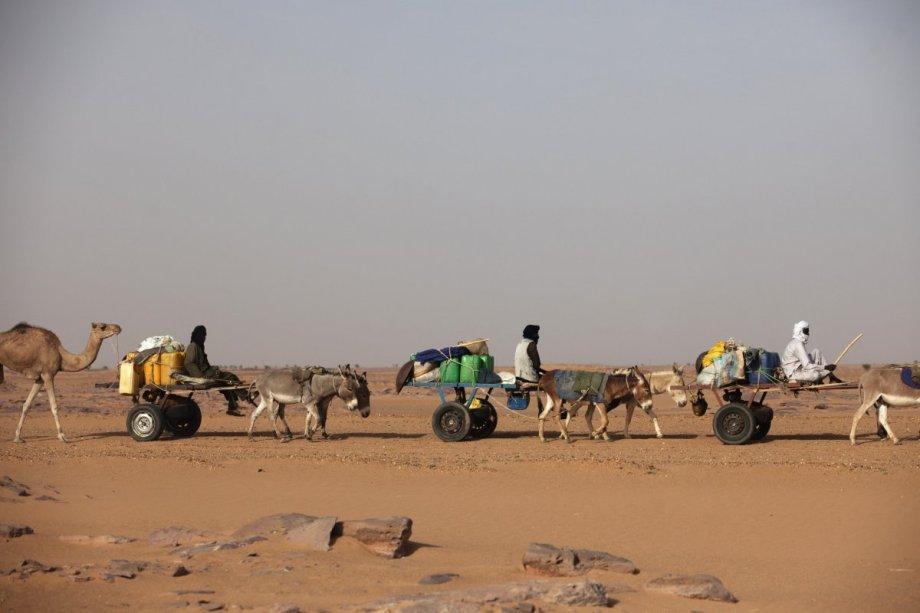 Libyan Kurdish families on the LIBYAN-Sudanese border