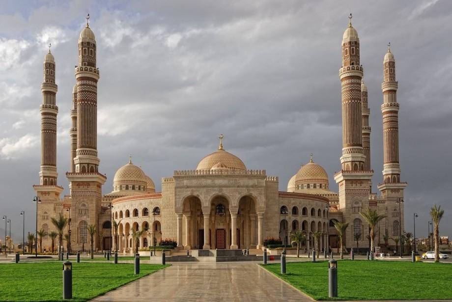 Sana'a 's al-Saleh mosque in Yemen