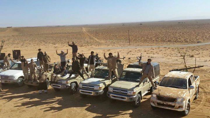 Third Battalion force supporting the Libyan army, 1
