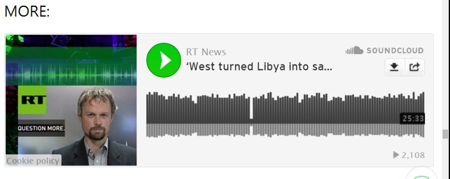 West destruction of Libya audio RTV