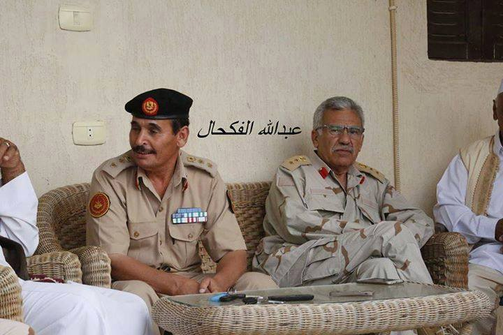 Western Region Libyan Army heroes, 'Colonel Adras Mada'(IDRESS MATERIAL CUNIEFOIRM),, and 'Colonel al-Sadeg al-Mzoga'