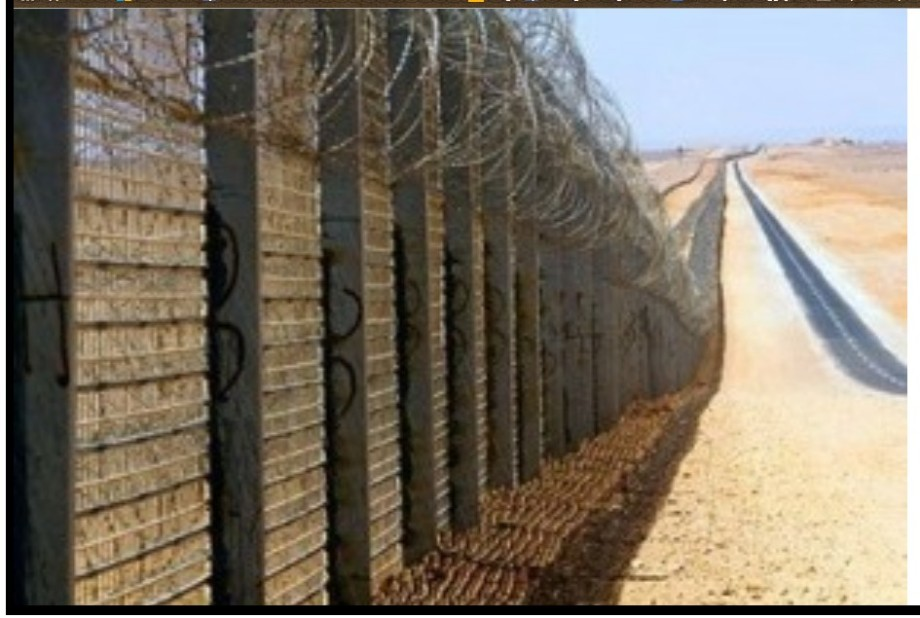 border wall between Tunisia and LIBYA