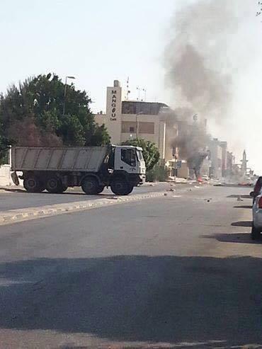 Clashes between militias medium weapons of Azwaip and one of militias Gado