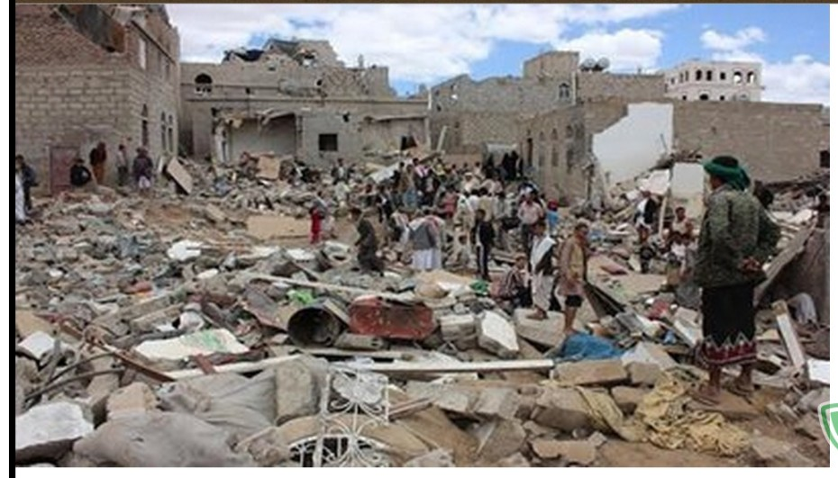 Destruction brougt by the SAUDIS & USA to Yemen