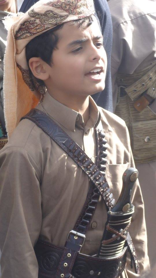 Houthi boy Sunday Ramadan demonstration against aggression