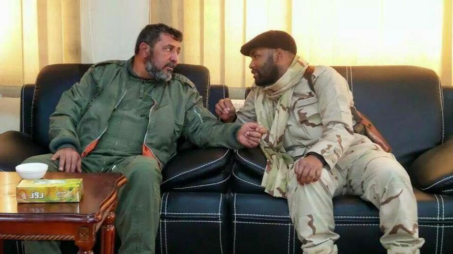 IBRAHIM al-JDHARAN w  'Colonel Mohammed al-Mnfor exiled', to buils a PORT SIDRA Military Base