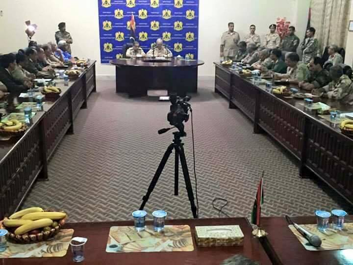 important meeting of the leadership of the Libyan Army in the meadow night