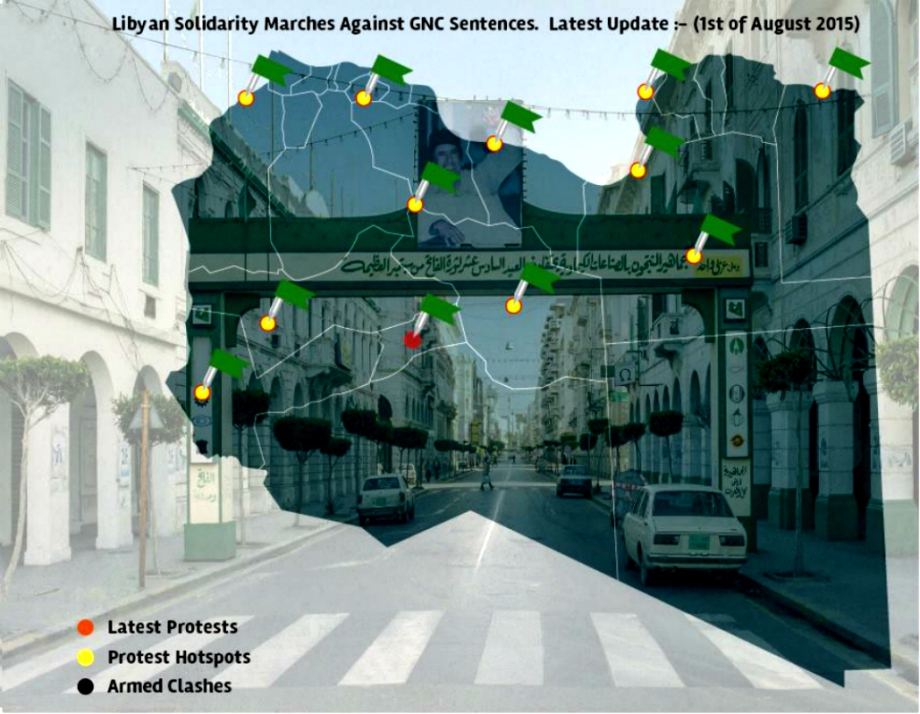 LIBYAN SOLIDARITY MARCHES 01 AUGUST 2015