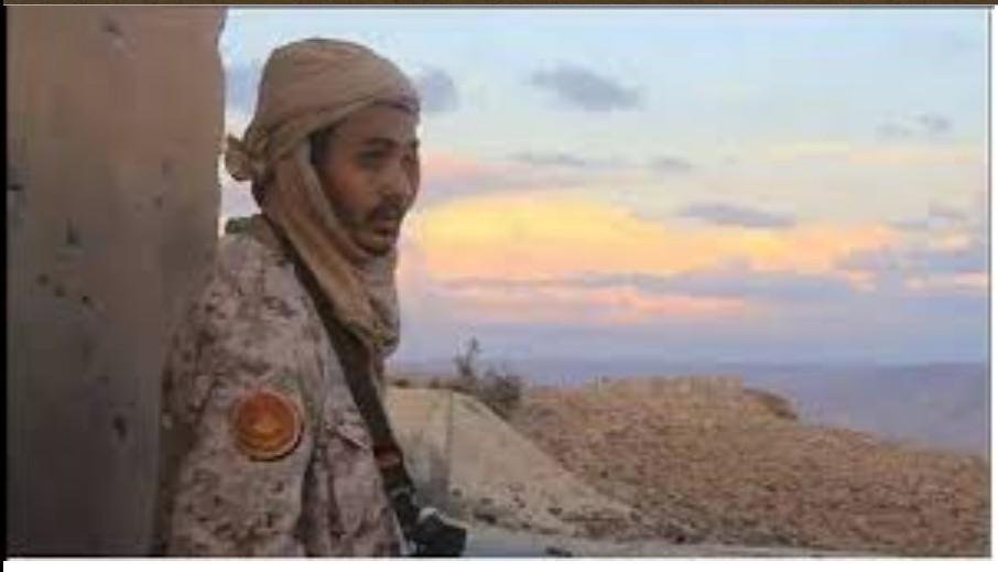 Colonel Al-Ajmi Aotaira (al-Tieri) in front Kikla