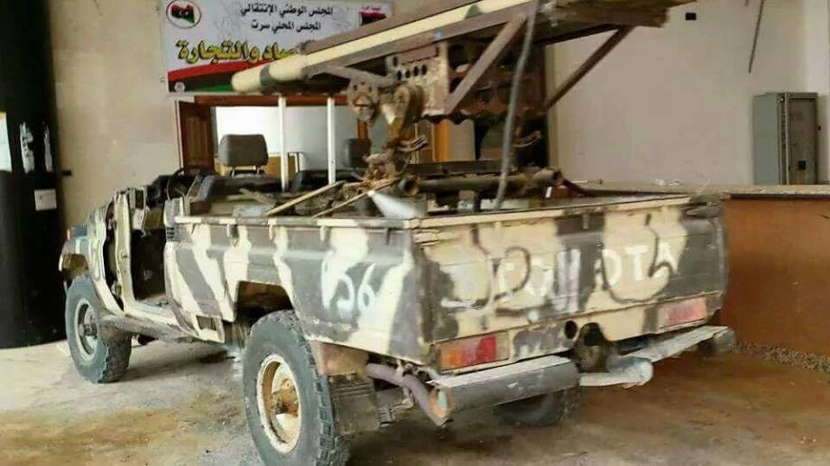 DAASH terrorists drive WMD parked in Sirte Mosque, 6