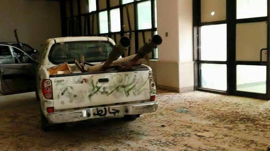 DAASH terrorists drive WMD parked in Sirte Mosque, 9