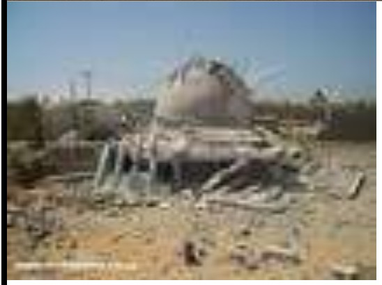 destruction of the shrine 'Governor Saleh Mohammed Dhofair Kashirma' of 'invoices tribe' in the 'seven area' of Zliten