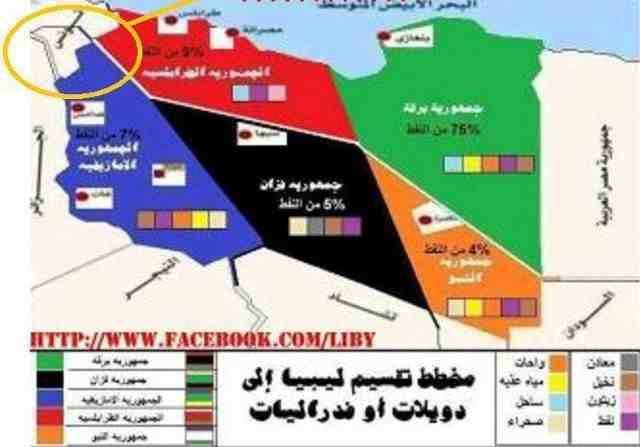 LIBYA DIVIDED FB MAP