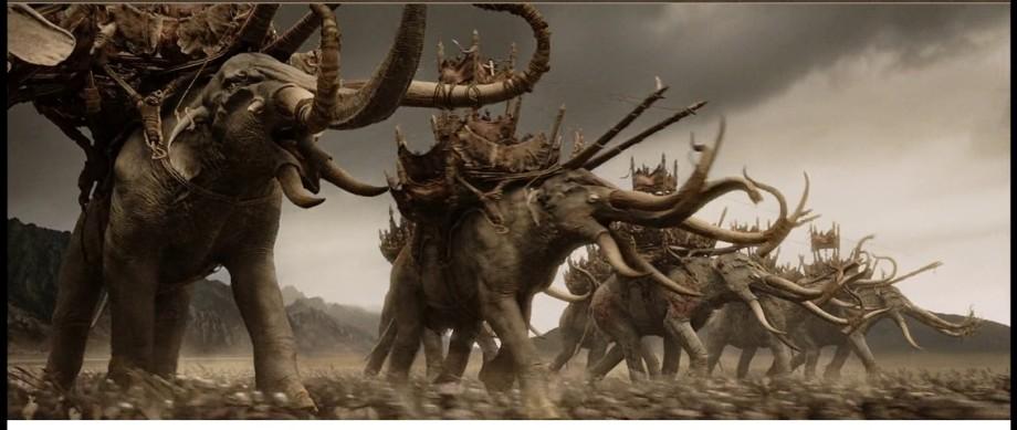 Mamukil LOTR prehistoric elephants of HARAD