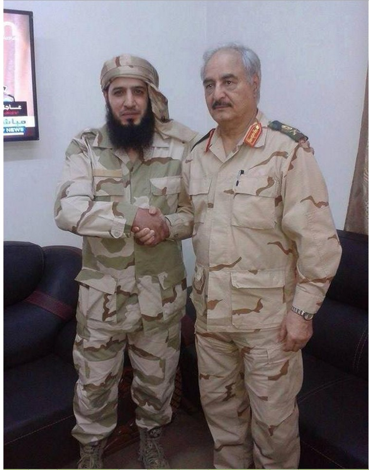 Salafi Sheikh Ashraf Mayar join the battalion Thunderbolt, and makes alliance with Khalifa Hftar