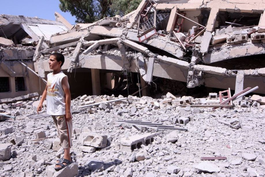 school in Zliten destroyed 05 August 2011 by NATO