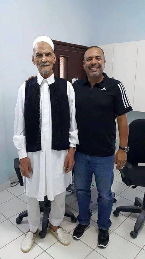 Sheikh al-Fadil Civil al-Chuirv mark (true Libyan Mufti), accompanied by eye-specialist Dr. Abdalrav Henedy