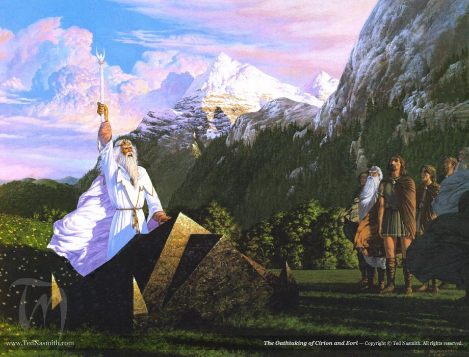The Oathtaking of Cirion and Eorl, by Ted Nasmith