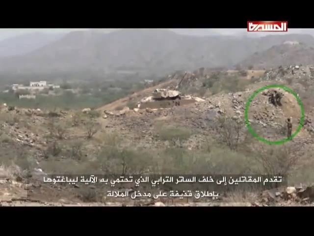 Yemeni fighters by SAUDI tanks, 1