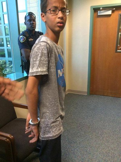 Ahmed Mohammed, a 14 year old in Irving Texas