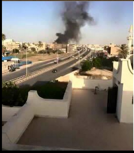 car explodes at doorway to TAJOURAH, TRIPOLI