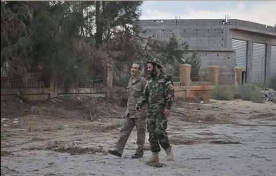 Colonel Mehdi Salah Albergta of 'Tanks 204' with Bogheib military intelligence in HAWARI, Benghazi
