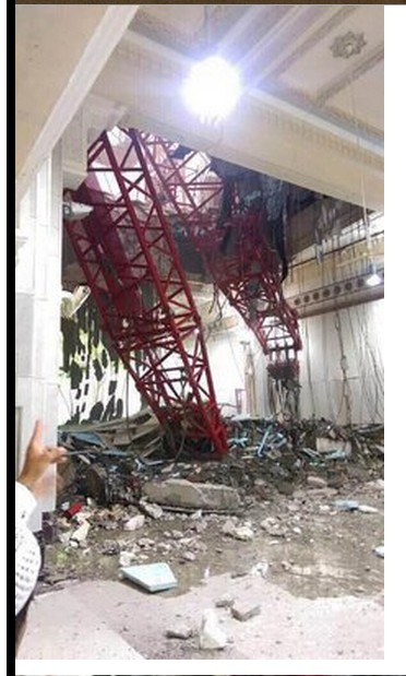 Crane crashes into Mecca Mosque in Saudi Arabia