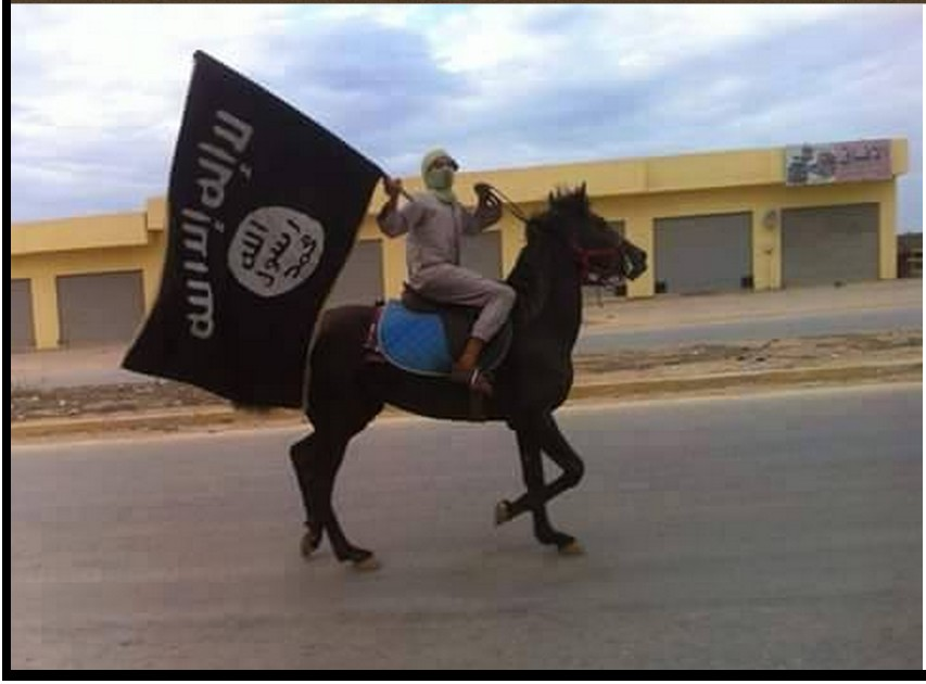 'DAASH' on horseback in Benghazi, 1