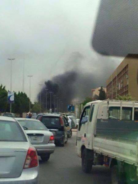 explosion by Plateau Tripoli Prison, 1