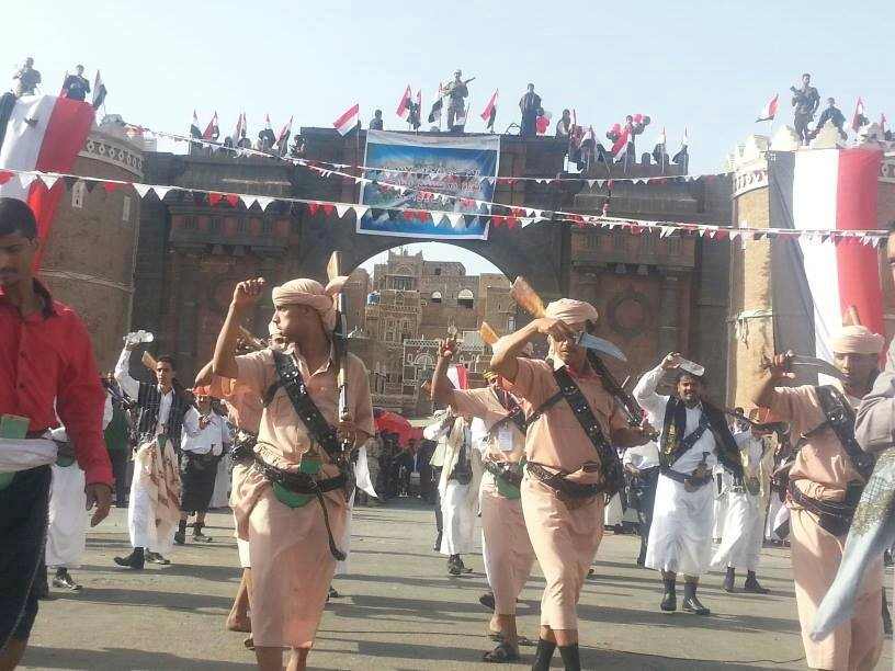 in front of Bab al-Yemen in Sana'a, 5