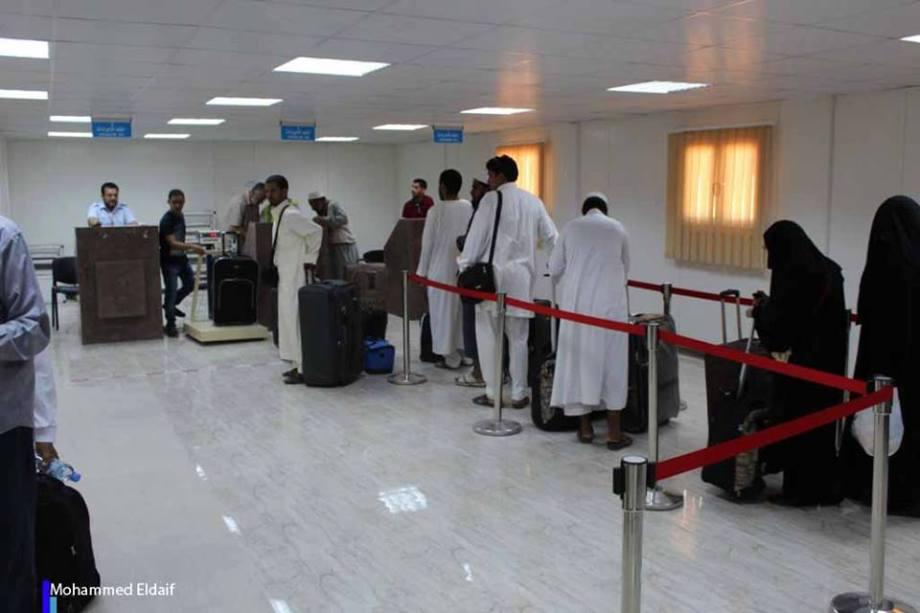 Pilgrims at Zintan Int. Airport, 2