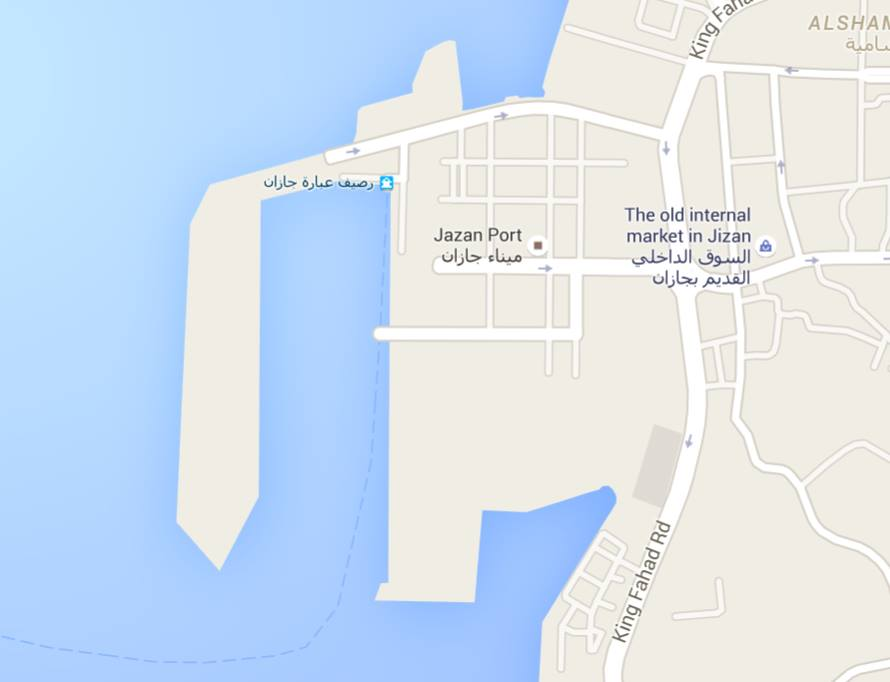 PORT of JIZAN, MAP