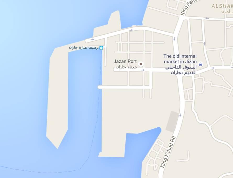 PORT of JIZAN, MAP