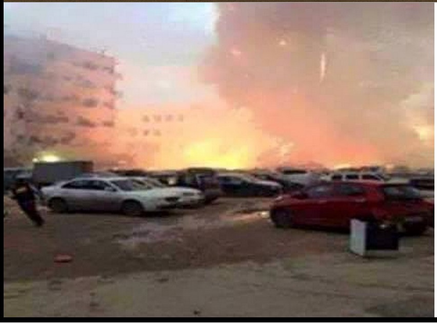 Rasheed Street in Tripoli bombed by 'DAASH'