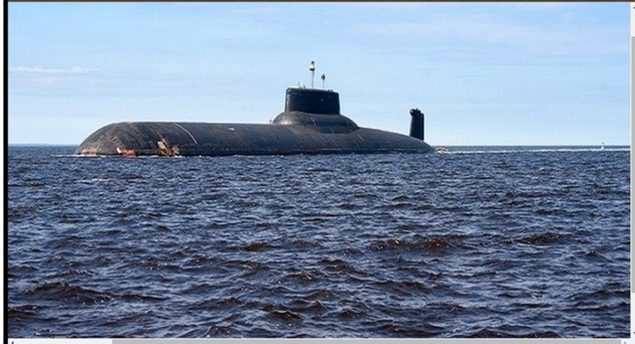 Russian sub, Dmitry Donskoy, in Mediterranean
