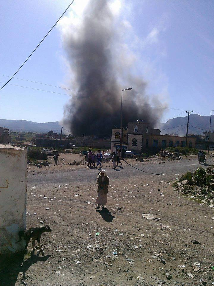 SAUDIIS DESTROY 2 CIVILIAN HOUTHI HOMES in DHURAN, YEMEN