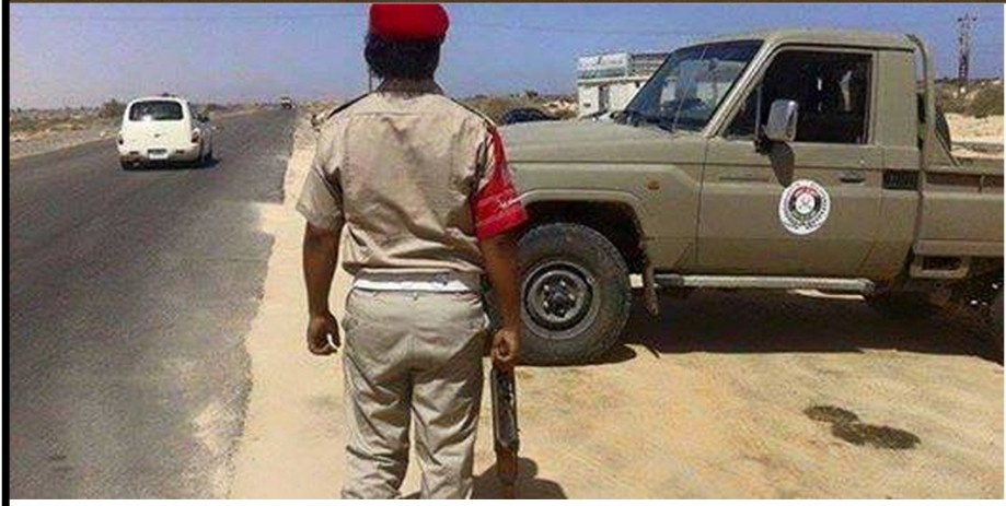 Tobruk appointed 'Military Police' are situated upon the Coastal Road from Ztun to Ras Worthy head. 2