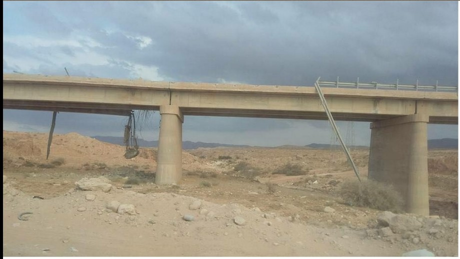 Valley Bridge between al-Azizia and crossing Thuhayba