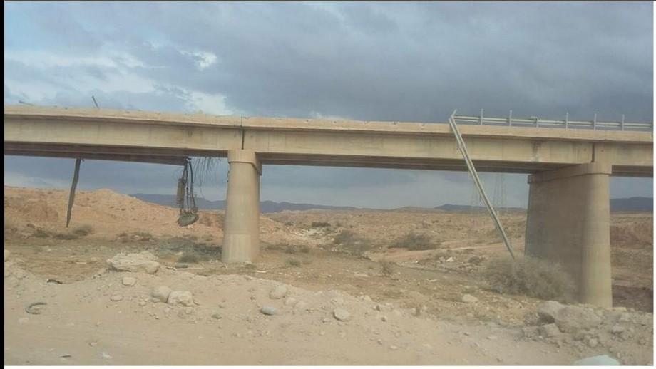 Valley Bridge between al-Azizia and crossing Thuhayba