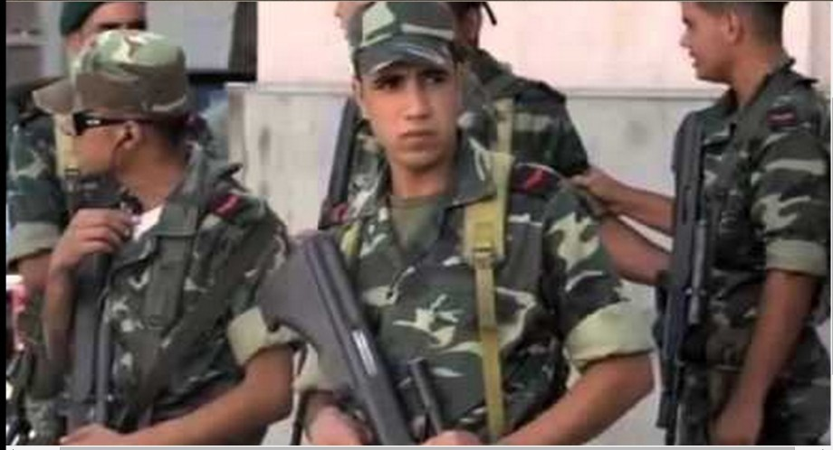 Young Tunisian border guards
