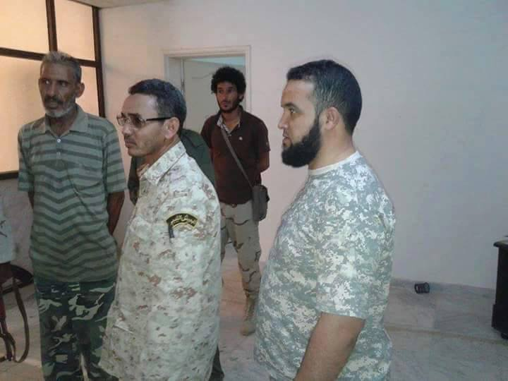 Zintani's Colonel al-Ajami al-Tairi (shaven) from within the city al-Ztun today, at a meeting in the common room, with notables of al-Ztun