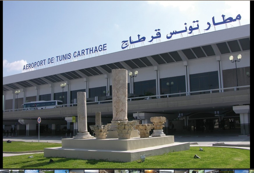 Carthage airport in Tunis