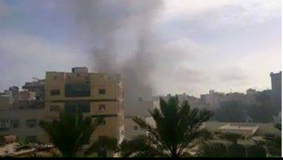 fire in the Saraya Bank Street in Antibrachii,Tripoli