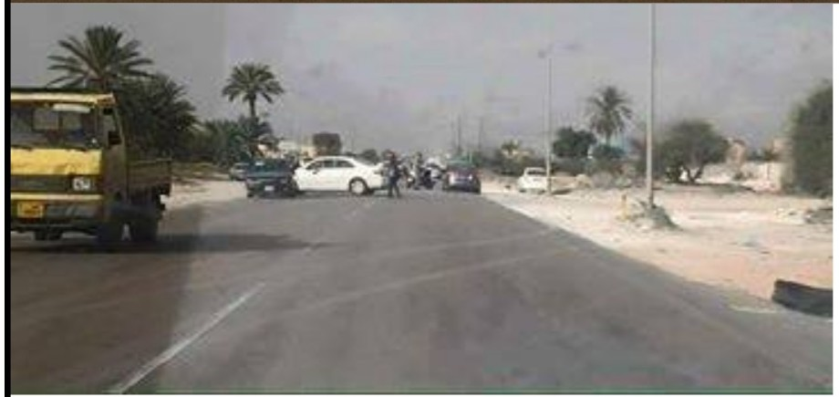 Sabratha road is closed