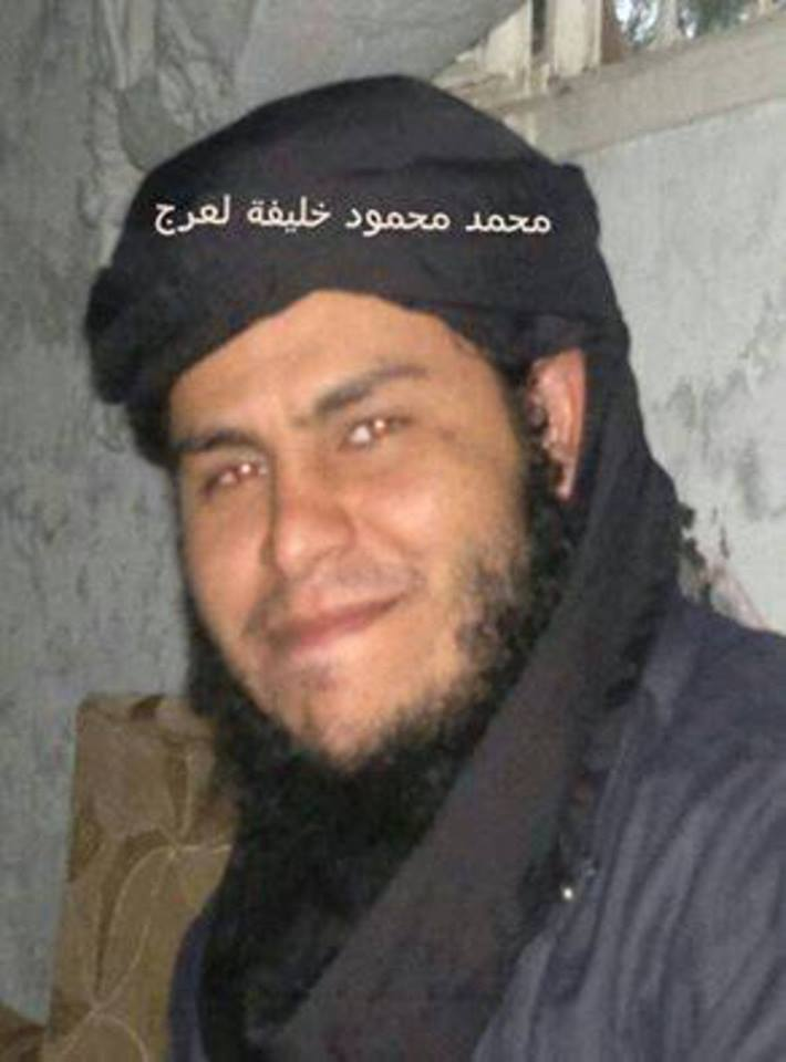 The Amir Tjbpf of 'Daash' terrorist organization, in Ros al-Hilal, Derna, called 'Mamed Bolqra Ahaara'