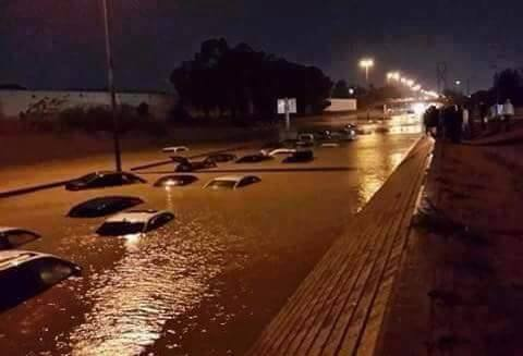 TRIPOLI FLOOD, cars lost