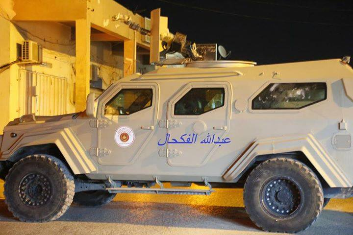 was Raouf Hater's militias, now for the new Libyan Army, an armored vehicle