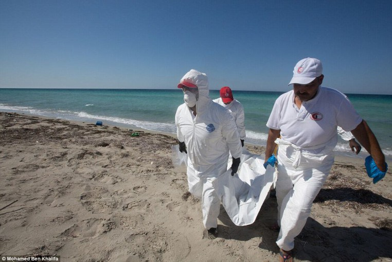 body found on Libyan shore